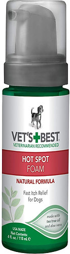 Vet's Best Dog Hot Spot Itch Relief Foam 150ml