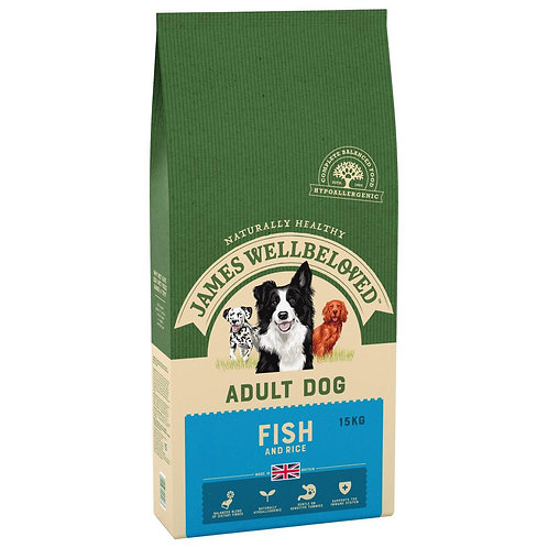James Wellbeloved Ocean White Fish and Rice Adult 15kg