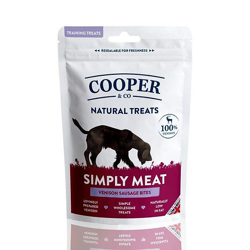 Cooper & Co Venison Sausage Bites - Training Treats 100g