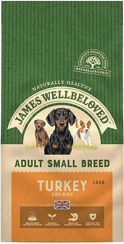 James Wellbeloved Dog Food Turkey and Rice Small Breed (1.5kg)