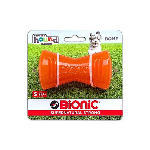 Outward Hound Bionic Tough Rubber Dog Bone Treat Toy Small