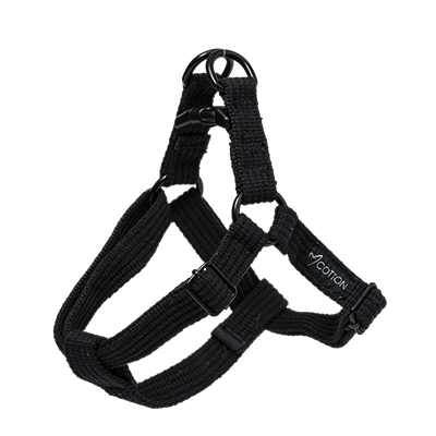 Gor Pets Cotton Harness Medium Black