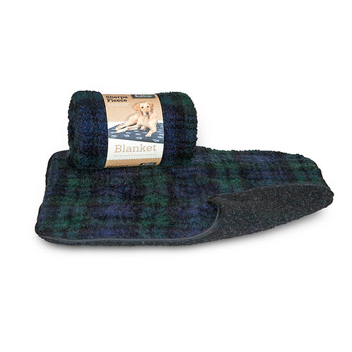 Danish Design Blackwatch Tartan Fleece Blanket, Medium