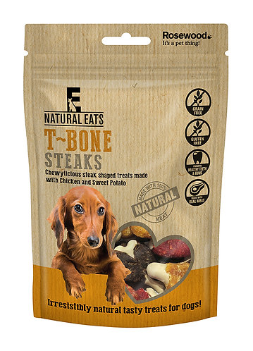 Rosewood Natural Eats T Bone Steaks 110g