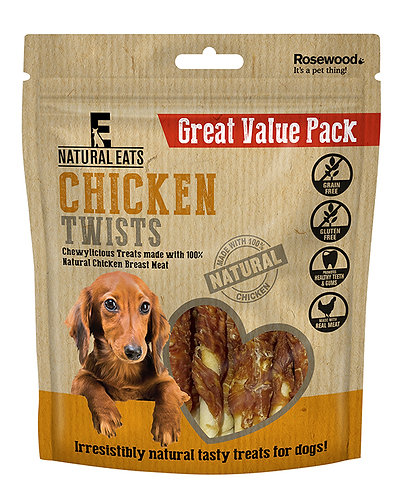 Rosewood Natural Eats Chicken Twists Value Pack 320g