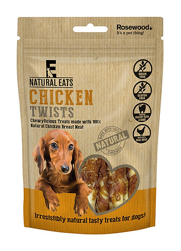 Rosewood Natural Eats Chicken Twists 80g