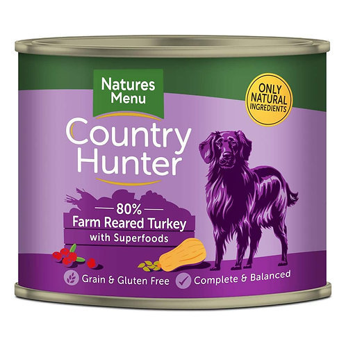 Natures Menu Country Hunter Farm Reared Turkey 600g