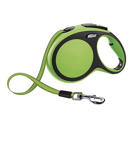 Flexi New Comfort Retractable Tape Lead, Large, 8 m, Green