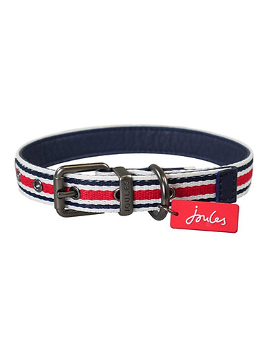 Joules Striped Dog Collar - Medium