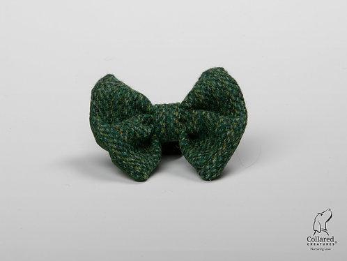 Collared Creatures Fern Herringbone Luxury Harris Tweed Dog Bow Tie