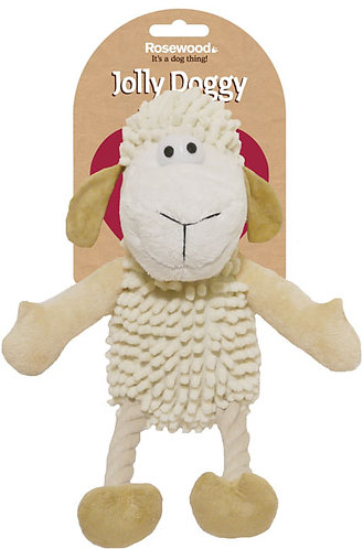 Rosewood Jolly Doggy Farmyard Sheep Dog Toy