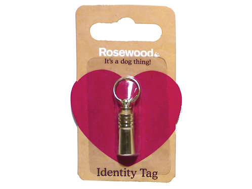Rosewood Dog ID Tube
