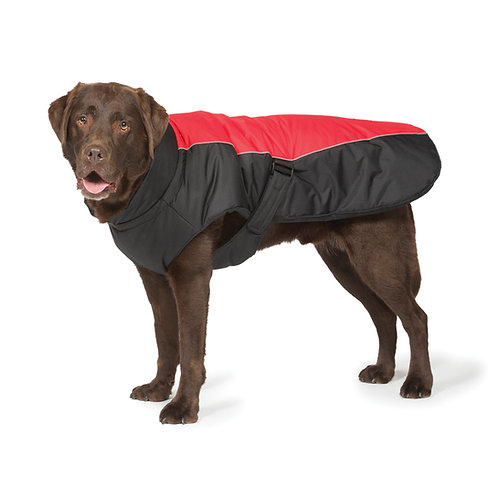 Danish Design Red Sport Luxe Dog Coat