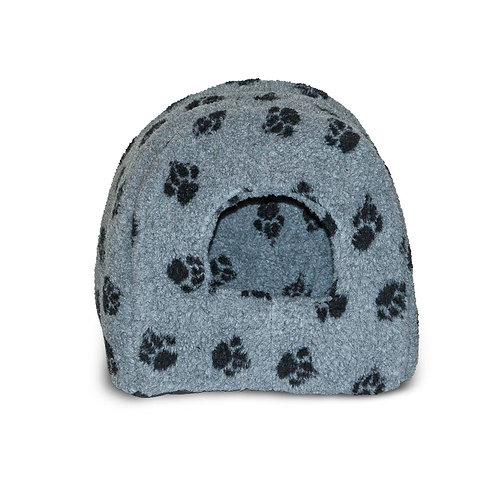 Danish Design Sherpa Fleece Grey Pet Igloo Bed