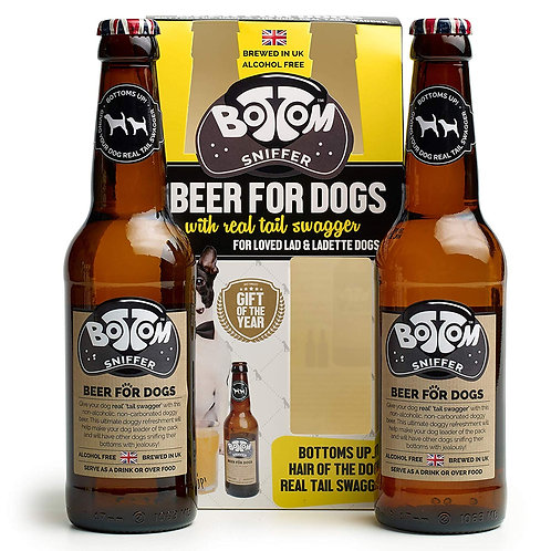 Woof & Brew Bottom Sniffer Dog Beer - Dog Gift Set (2 x 330ml)