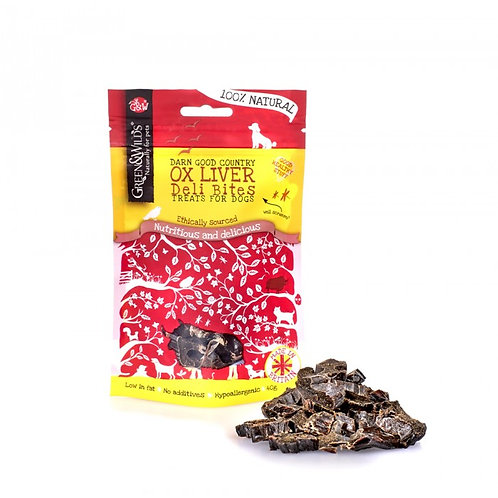 Green & Wilds Ox Liver Deli Bites 40g