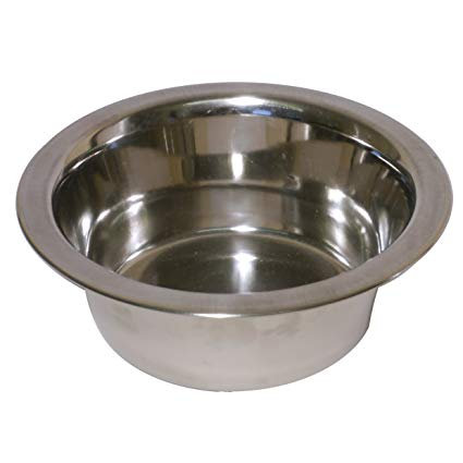 Rosewood Deluxe Stainless Steel Dog Bowl, 5-Inch