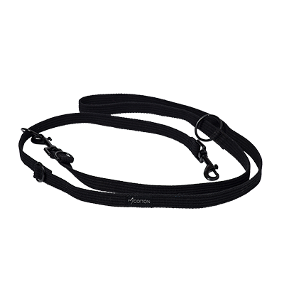 Gor Pets Cotton Dog Training Lead Large Black
