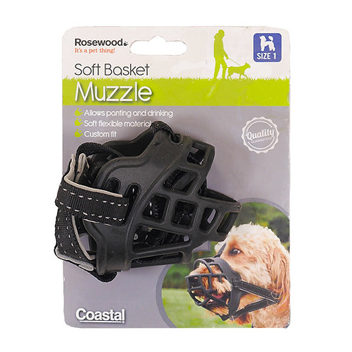 Coastal Pet Soft Basket Muzzle - Size 1