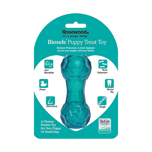 Rosewood BioSafe Treat Dumbell Blue