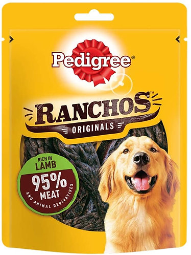 Pedigree Ranchos Dog Treats Lamb 70g