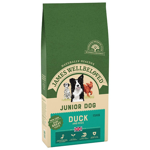 James Wellbeloved Duck & Rice Junior 15kg