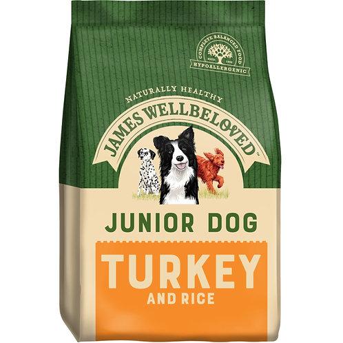 James Wellbeloved Turkey and Rice Junior 15kg