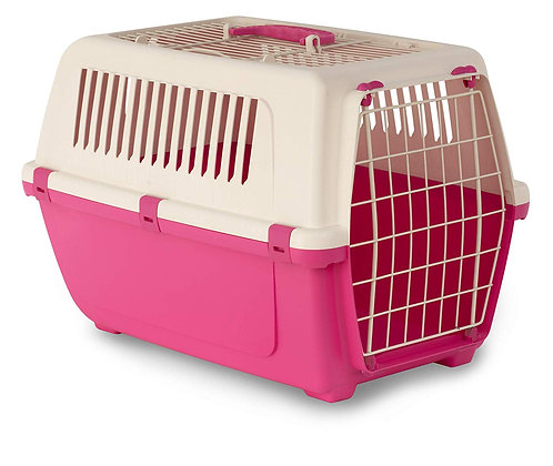 Rosewood Vision Free 2 Door Top Opening Cat and Pet Carrier 55 cm, Pink Panther