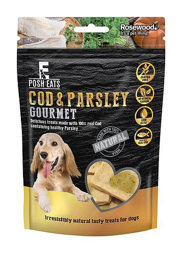 Rosewood Posh Eats Cod & Parsley Gourmet Treats 80g