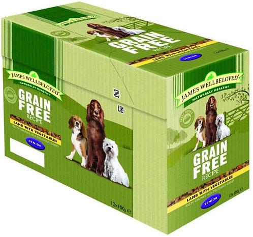 James Wellbeloved Pouches Grain Free Lamb Senior 12 x 100g