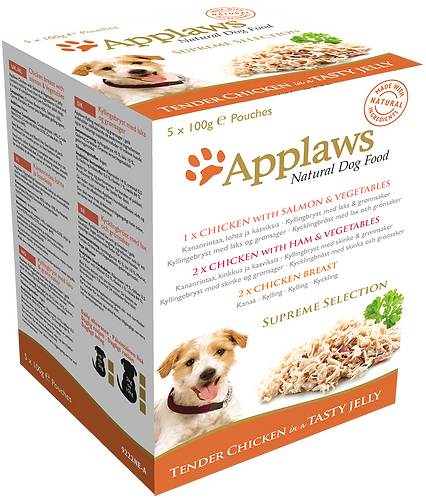 Applaws Dog Pouch Multipack Supreme Collection 5x100g