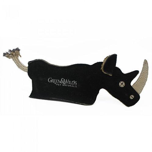 Green & Wilds Eco Dog Toy - Ronnie Rhino
