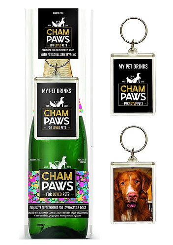 Woof & Brew Champaws Gift Pack with Key Ring