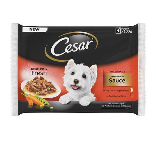 Cesar Pouch Deliciously Fresh Selection In Sauce 52x100g