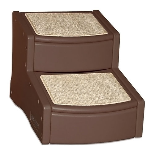 Pet Gear 2 Step Stairs - Chocolate