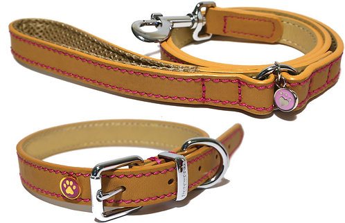Rosewood Luxury Leather Dog Lead - Tan