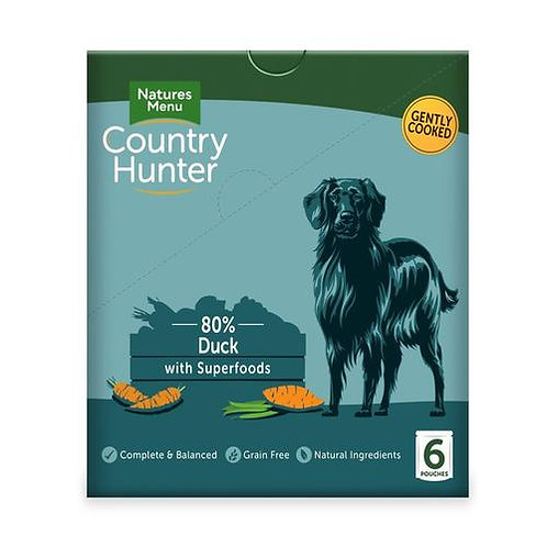 Natures Menu Country Hunter Dog Pouch Duck (6x150g)