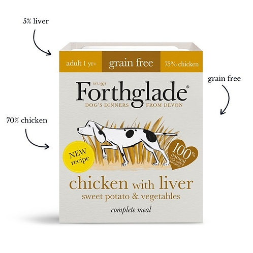 Forthglade Complete Adult Chicken with Liver Grain Free 395g