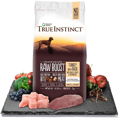Natures Menu Dog Adult True Instinct Raw Boost Turkey with Duck 5kg