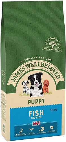James Wellbeloved Ocean White Fish and Rice Puppy 15kg