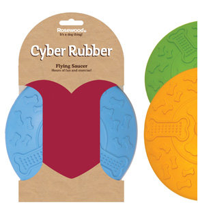 Rosewood Cyber Rubber Saucer - Large