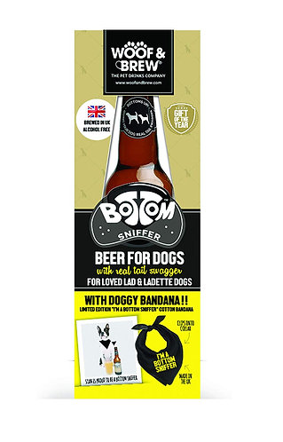 Woof & Brew Bottom Sniffer Beer Gift Pack with Bandana