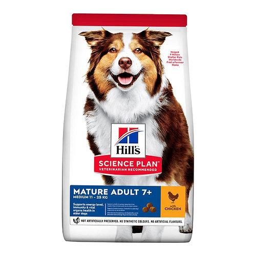 Hills Science Plan 7+ Dog Mature Medium Dry Chicken 14kg