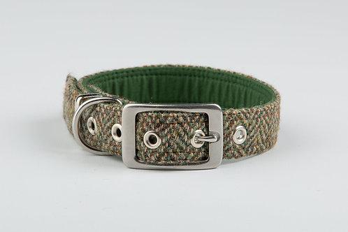 Collared Creatures Totally Traditional Herringbone Harris Tweed Luxury Collar