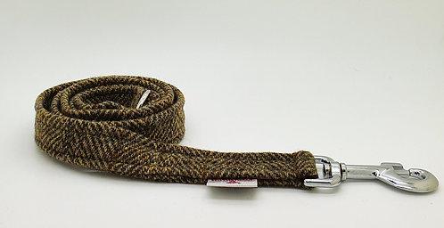 Collared Creatures Totally Traditional Herringbone Luxury Harris Tweed Dog Lead