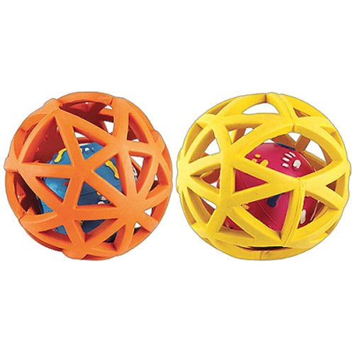 Gor Pets Rubber Extreme Giggler Ball Toy