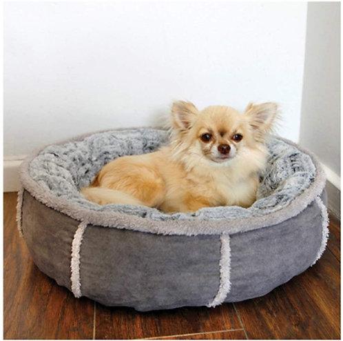 Rosewood Luxury Sleeper Deep Plush Grey Donut Bed - Small