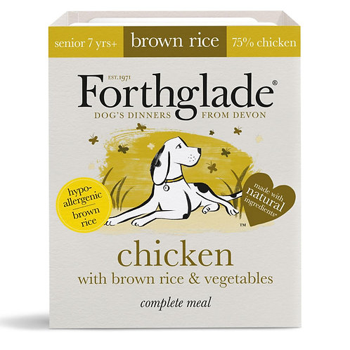 Forthglade Complete Meal Senior Chicken Brown Rice & Veg 395g