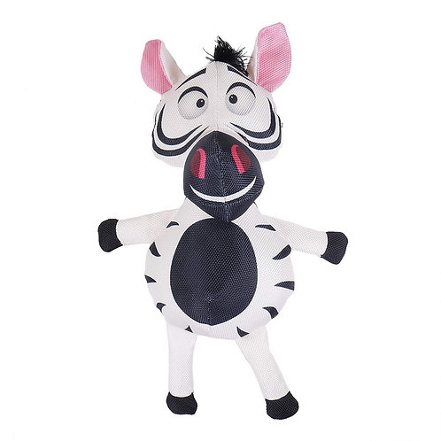 Rosewood Safari Tough Zebra Dog Toy