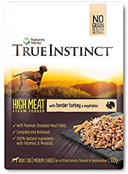 Natures Menu True Instinct Pouch Turkey Fillet Adult Dog 8x300g